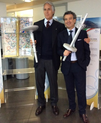 L'Olympic Aid and Sport Promotion Project dona due torce al CONI  - Olympic Aid verschenkt zwei Fackeln an CONI - Olympic Aid give two torches at CONI