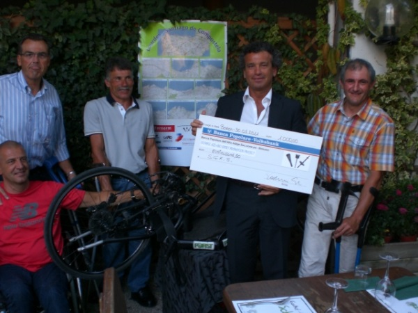 L'Olympic con gli handbikers - Olympic Aid und die Handbikers - Olympic Aid and the Handbikers